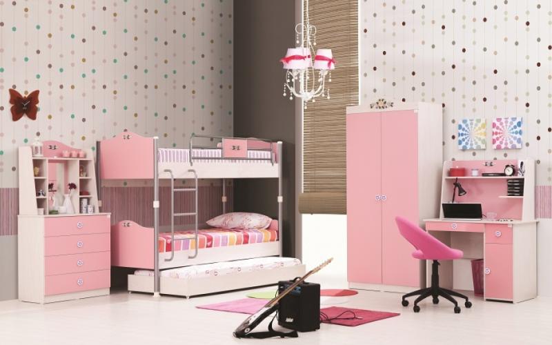 ≥ rosa meisjekamer sprookjesachtige meiden kamer klassiek bed